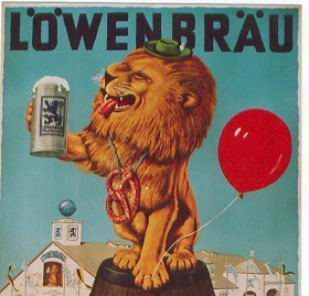 Vintage Lowenbrau lion