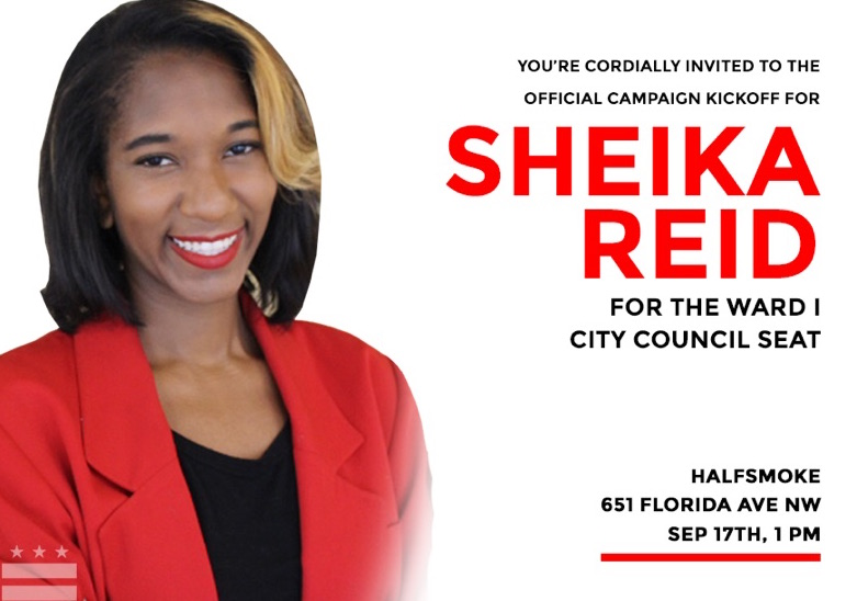 Sheika Nikole Reid's Campaign KickOff on Sunday, September 17th, 2017 at HalfSmoke
