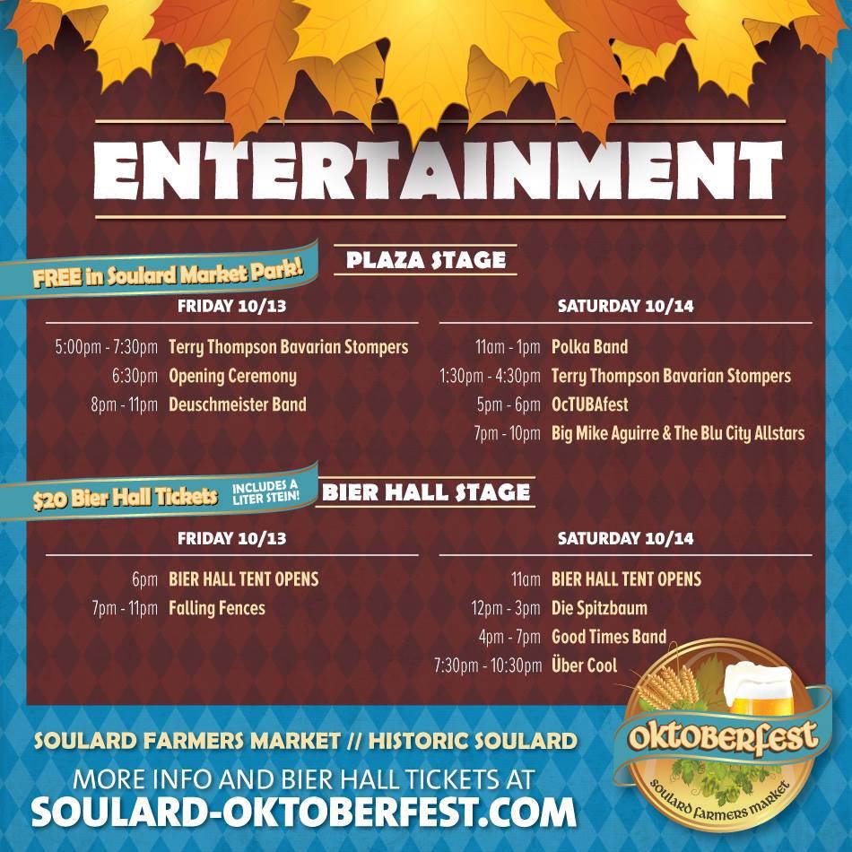 Oktoberfest Music Schedule  sc 1 st  Eventbrite & Oktoberfest @ Soulard Market Tickets Multiple Dates | Eventbrite