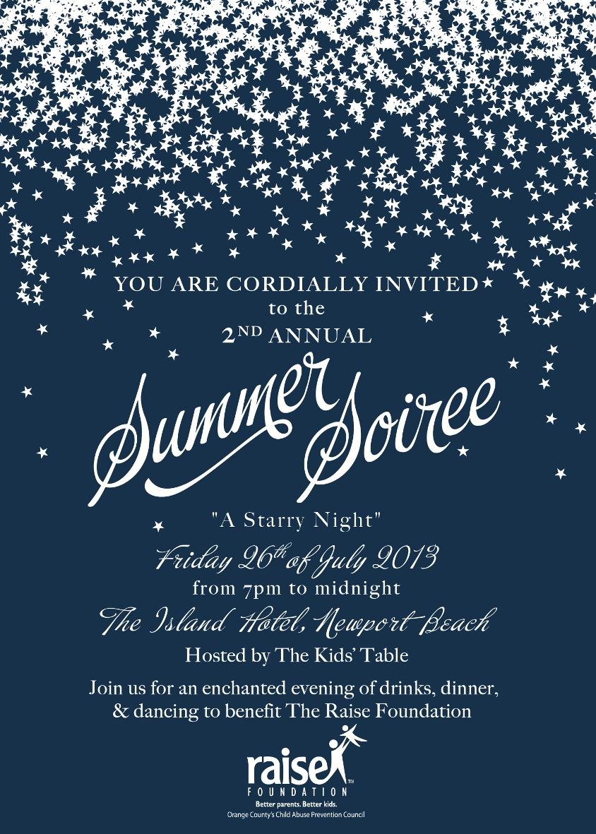 Summer Soiree Starry Night Invite