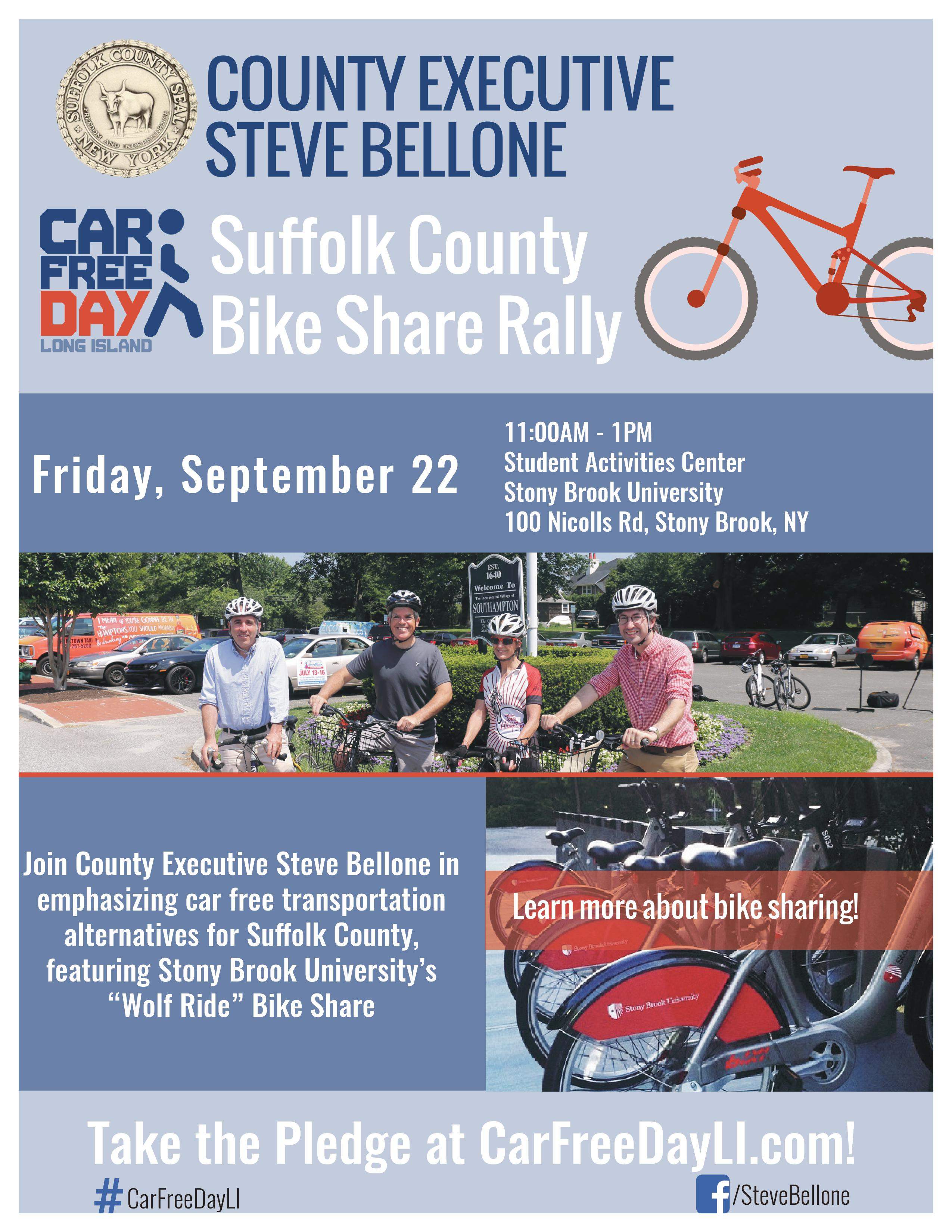 Car Free Day Flyer 2017