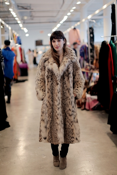Nicole Simone shops the December edition of A Current Affair Pop Up Vintage Marketplace in Downtown LA