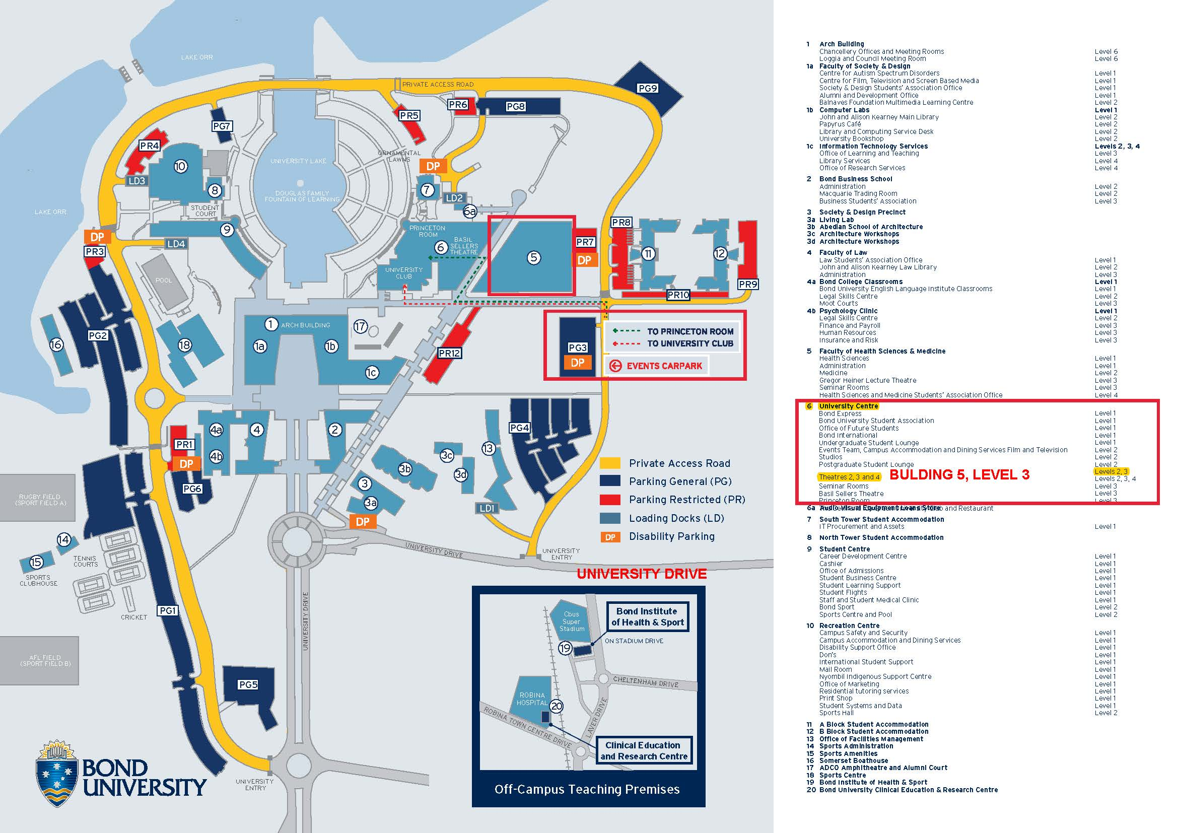Bond University Campus Map