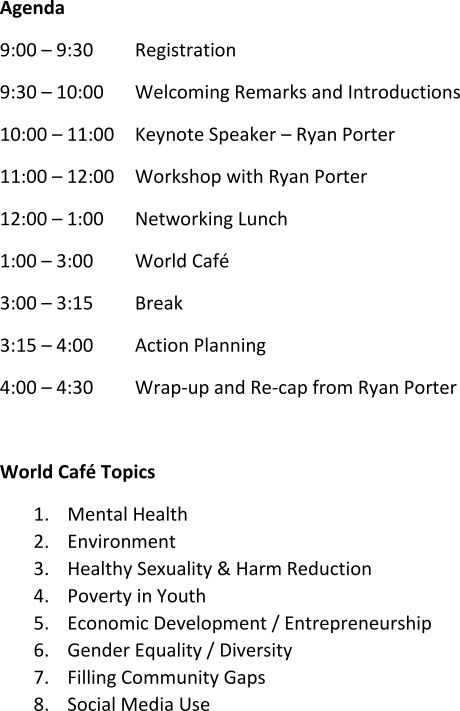 youth summit agenda