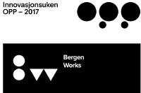 Logos of Bergen Works and Innovasjonsuken OPP together