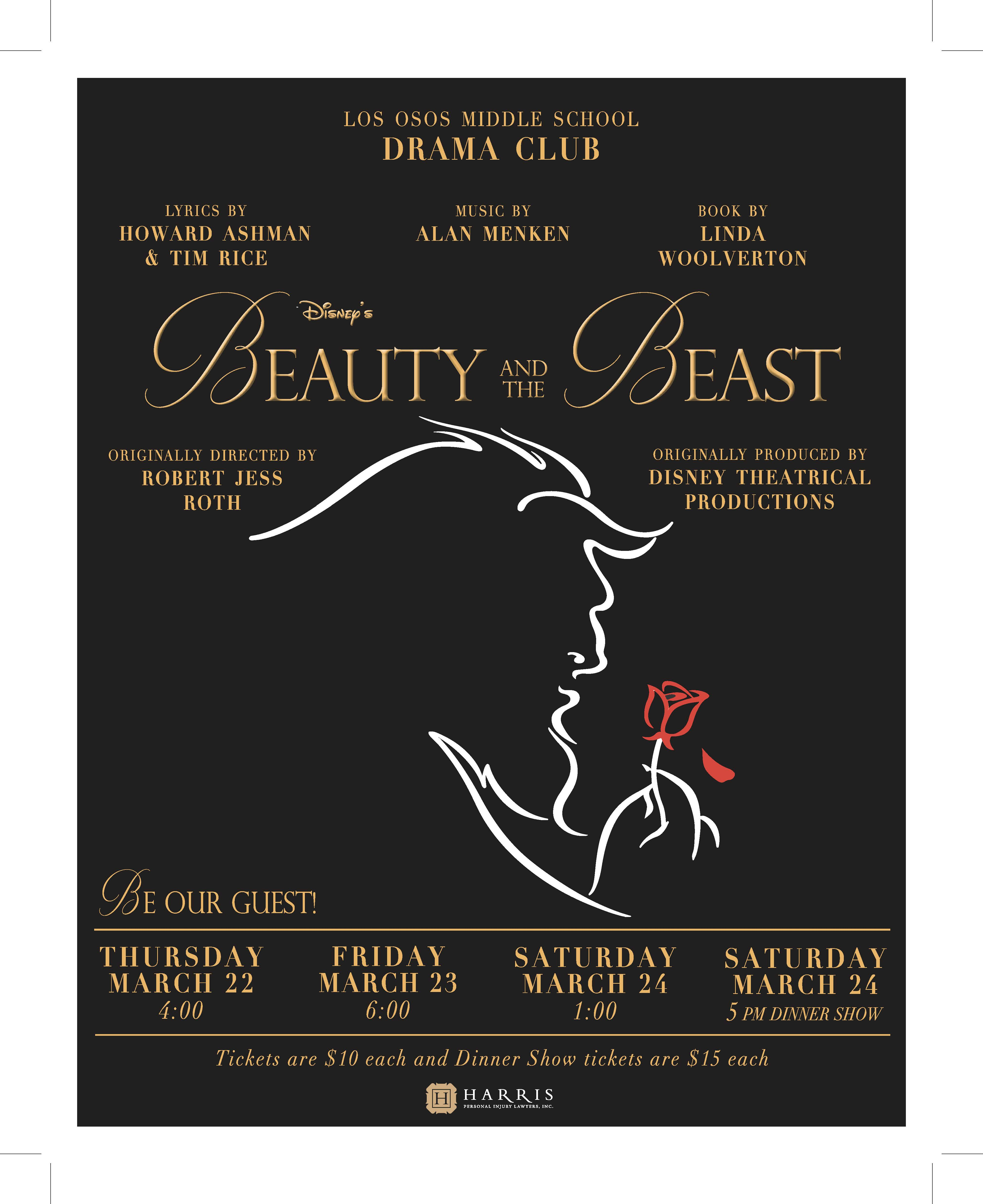 Beauty & The Beast Title Poster