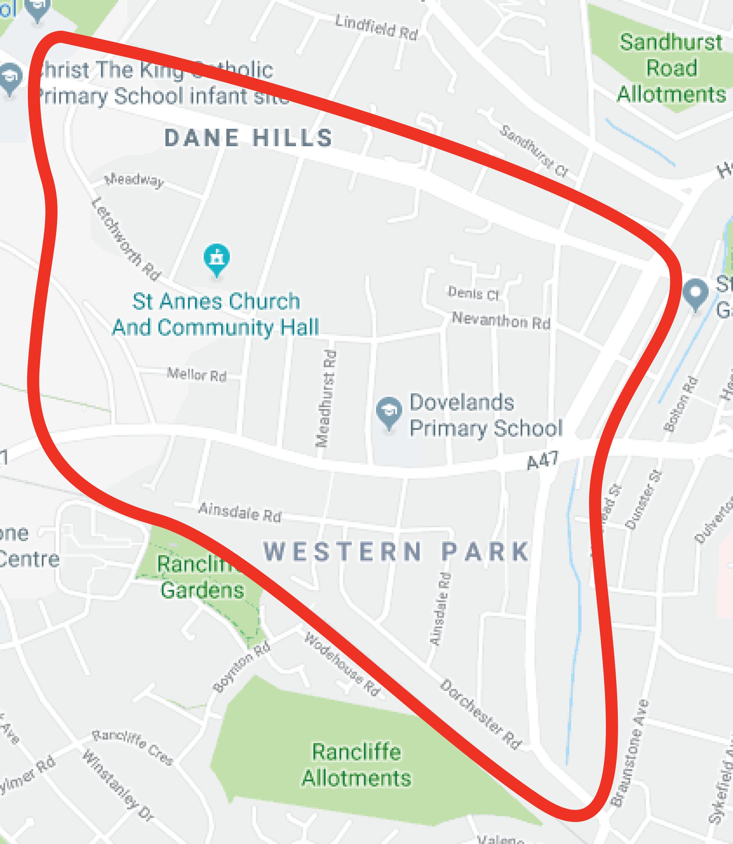 Western Park Area Map