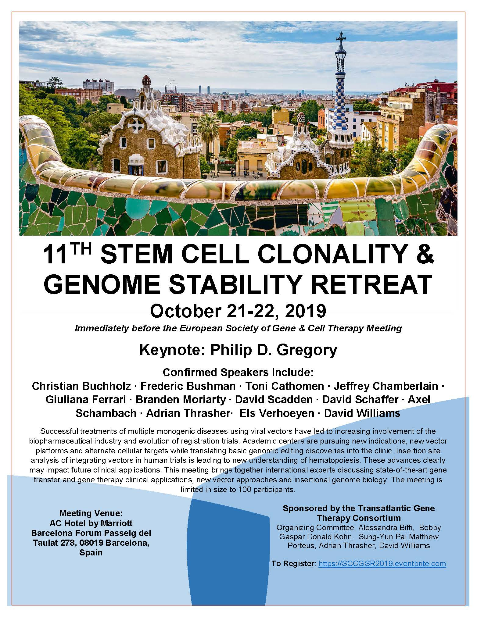 11th Stem Cell Clonality and Genome Stability Retreat