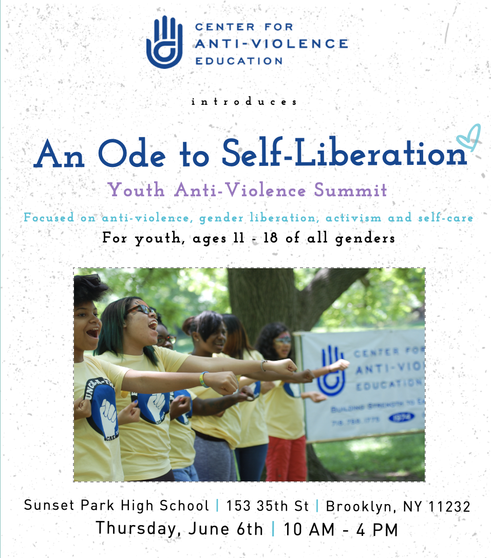 Ode to Self-Liberation: Youth Anti-Violence Summit Flyer