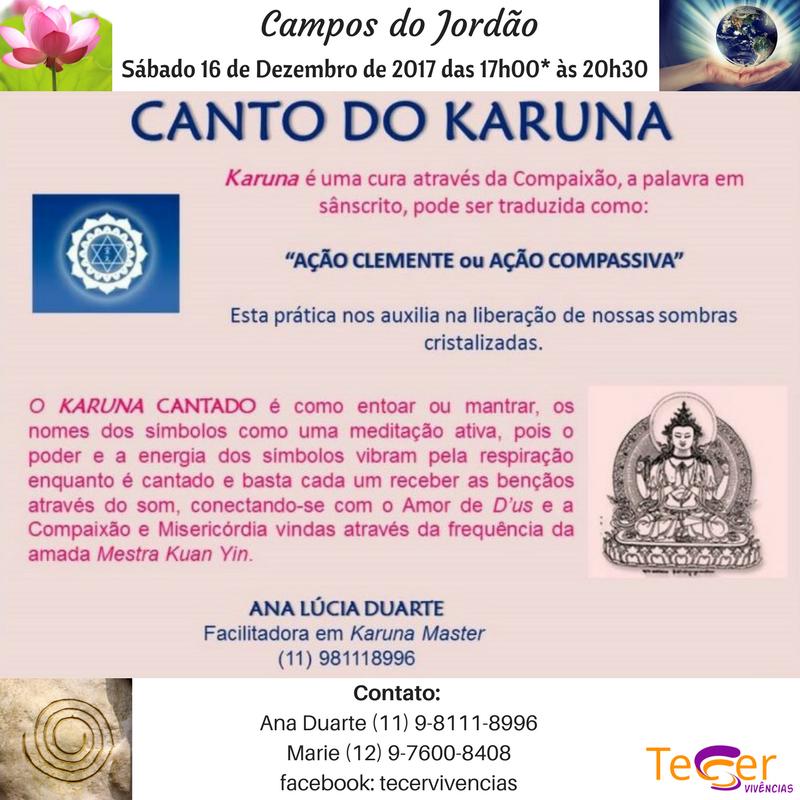 Canto Karuna Campos do Jordão Cura Meditação Evento