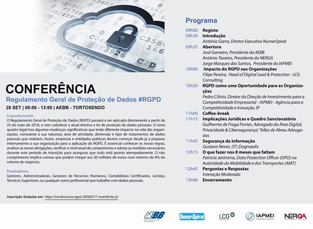 Flyer Conferencia 28092017 RGPD