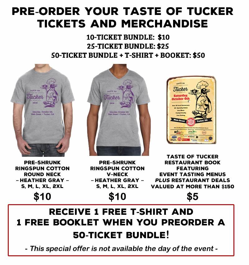 Taste of Tucker Tickets and Merchandise