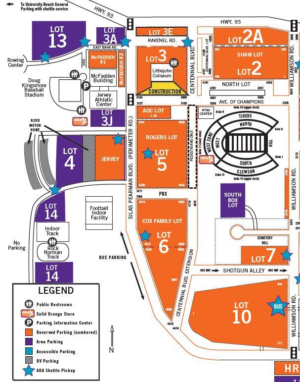 Clemson Campus Map