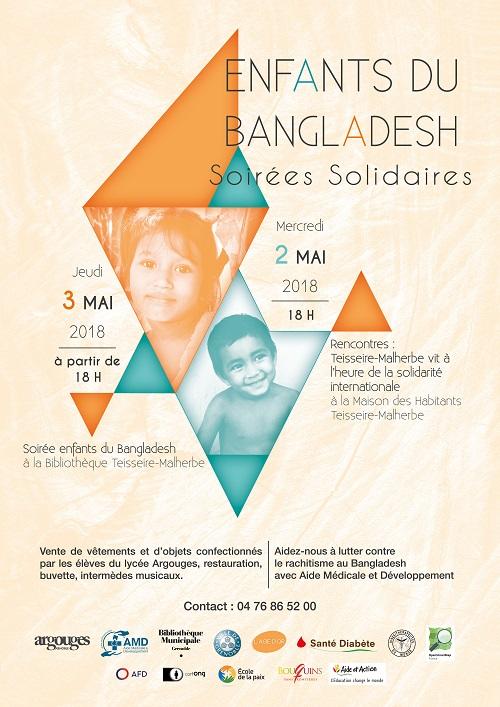 Affiche journées solidarité Bengladesh