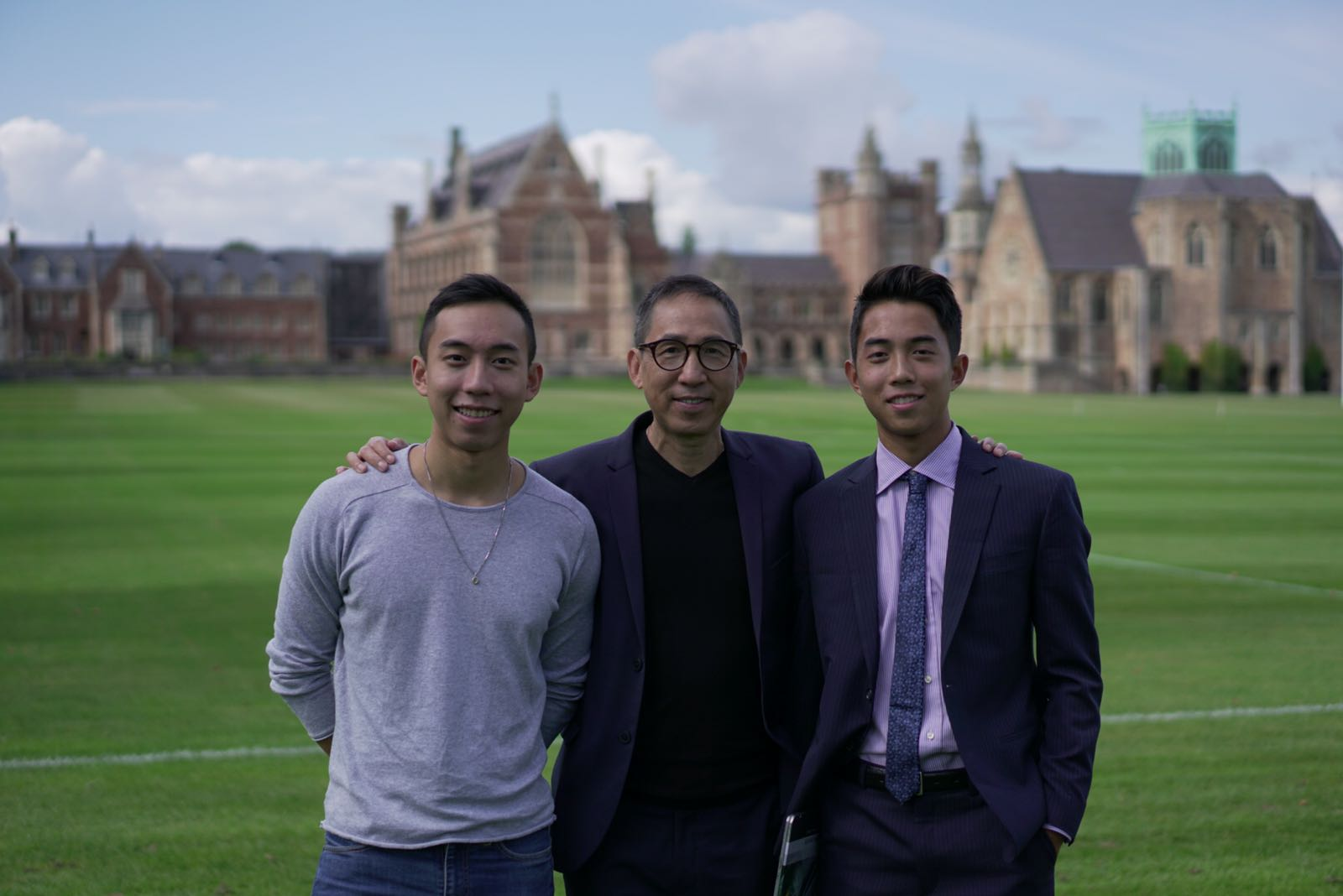 Alfred Cheung with Justin and Johnathan in UK