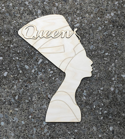 Nefertiti Cut out with Queen