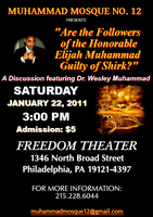 """Are the Followers the Honorable Elijah Muhammad Guilty of..."