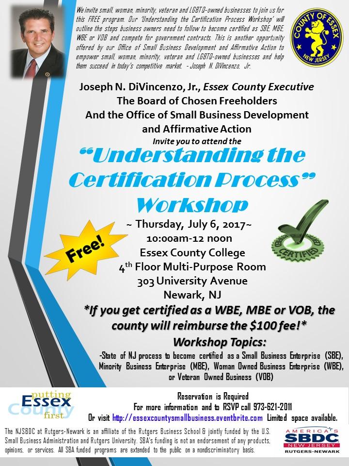 Understanding the Certification Process Workshop