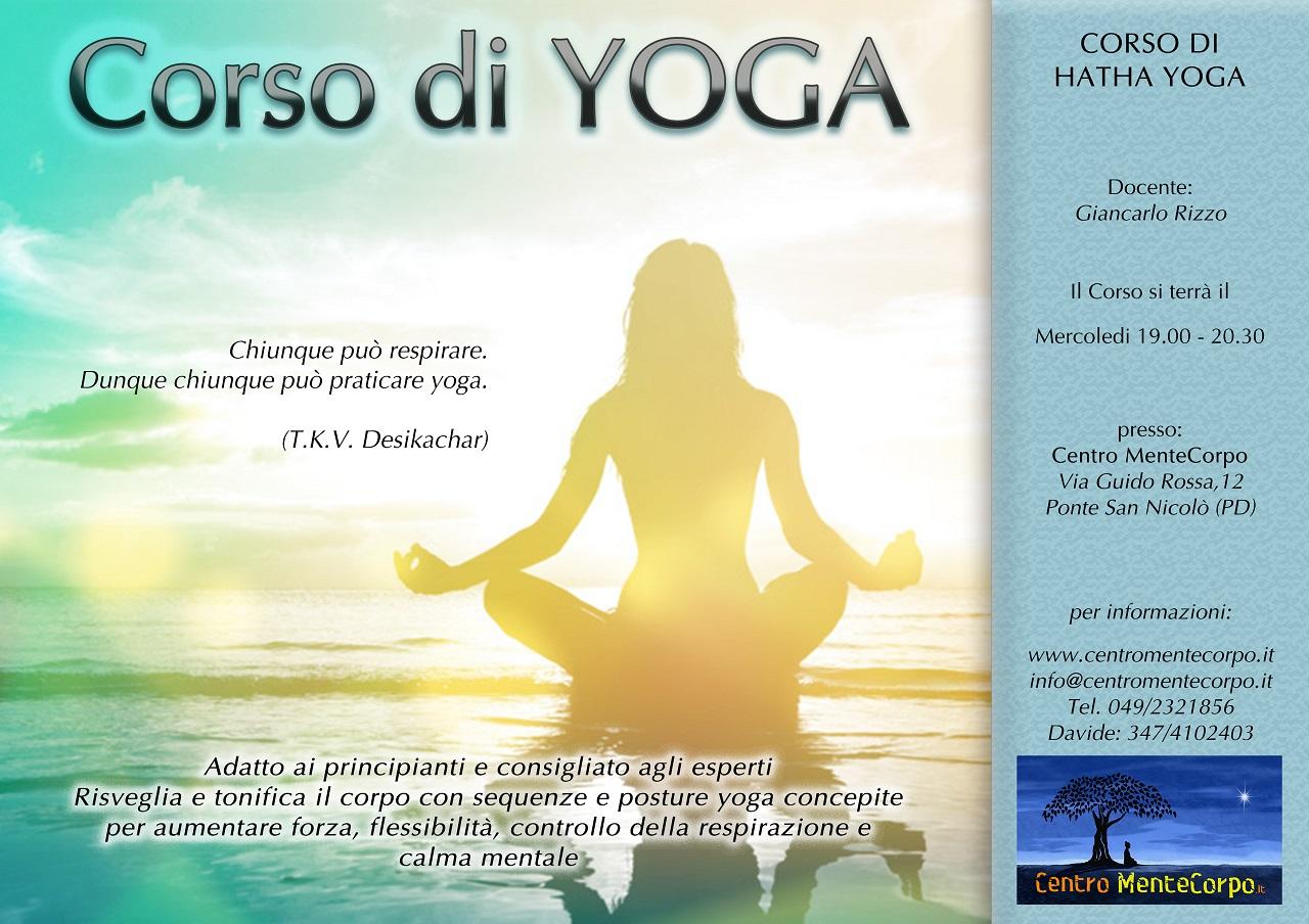 Locandina Corso di Yoga