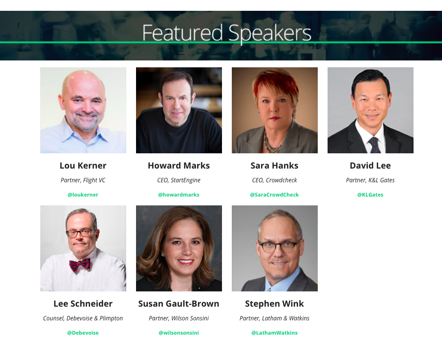 Speakers for the ICO Summit Panel