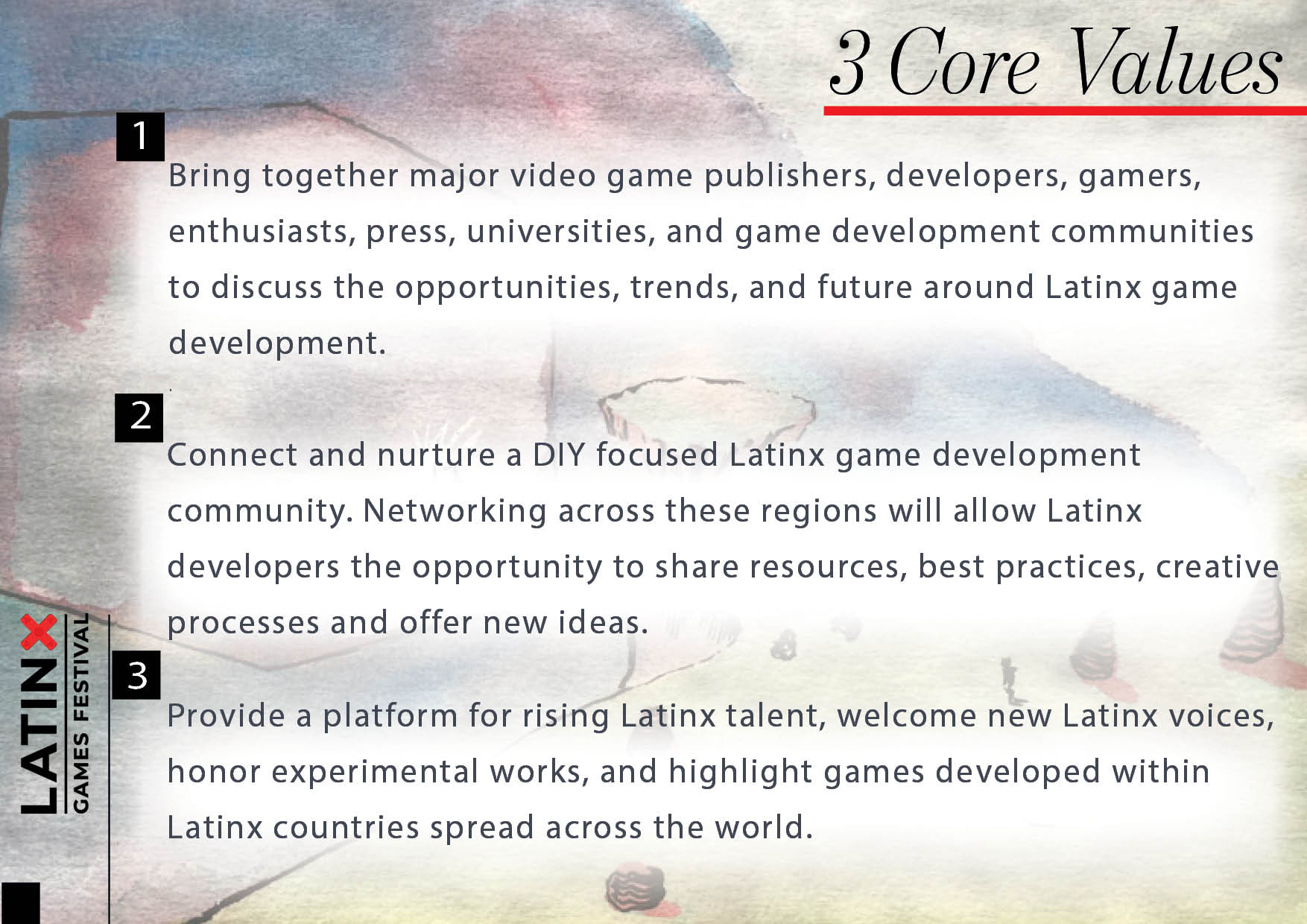 Latinx Games Festival Core Values