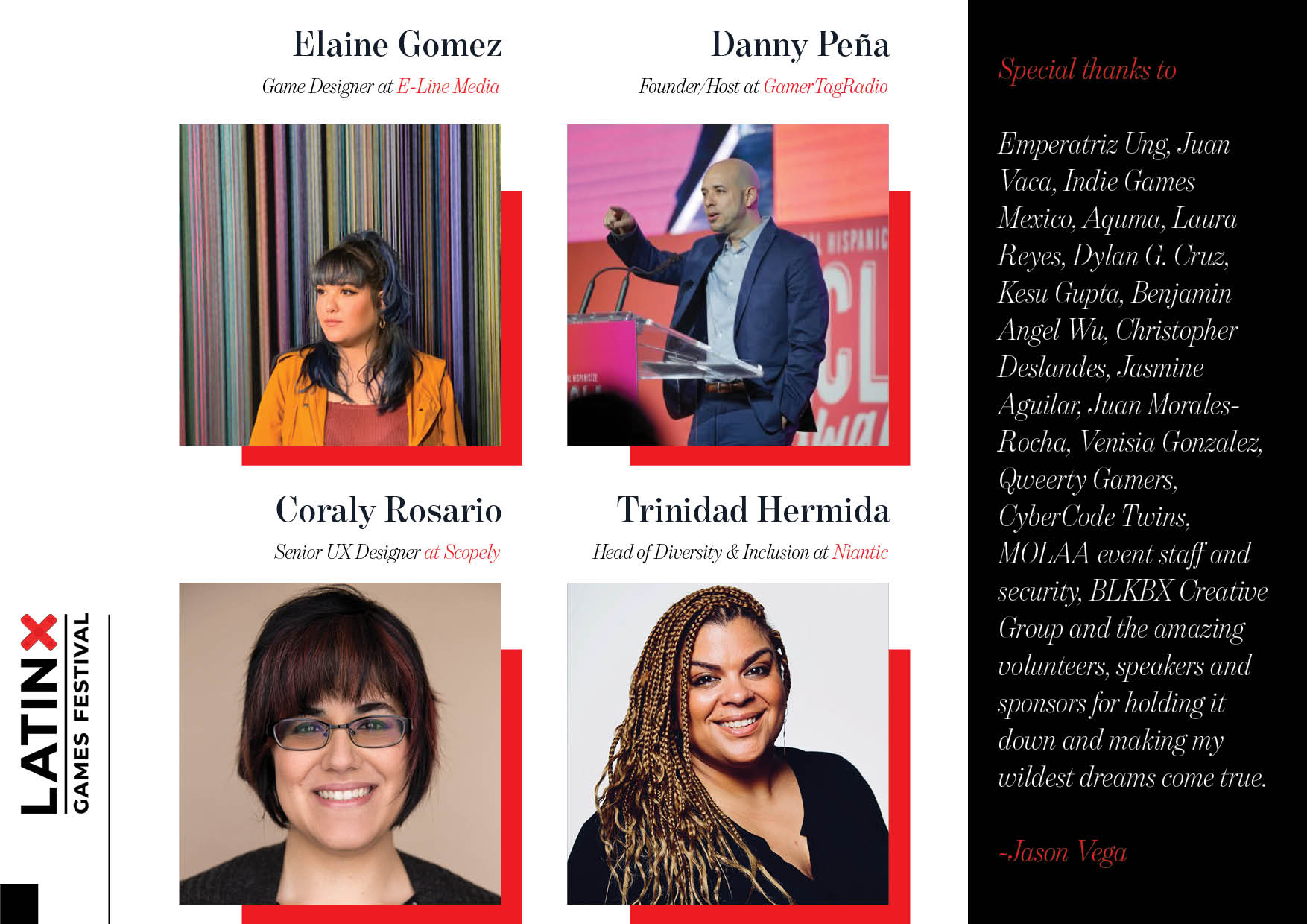 Latinx Games Festival 2019 Speakers 2