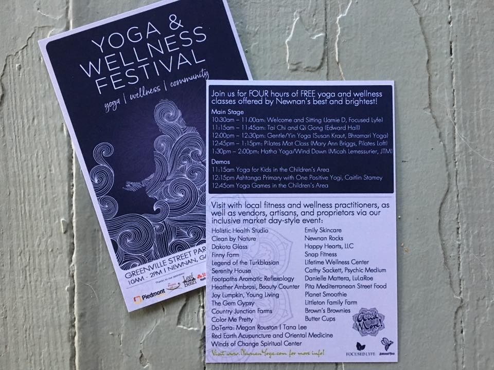 Yoga and Wellness Festival Vendor Roster