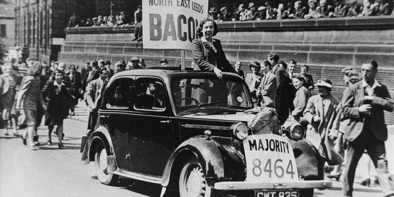Alice Bacon's 1945 election victory parade