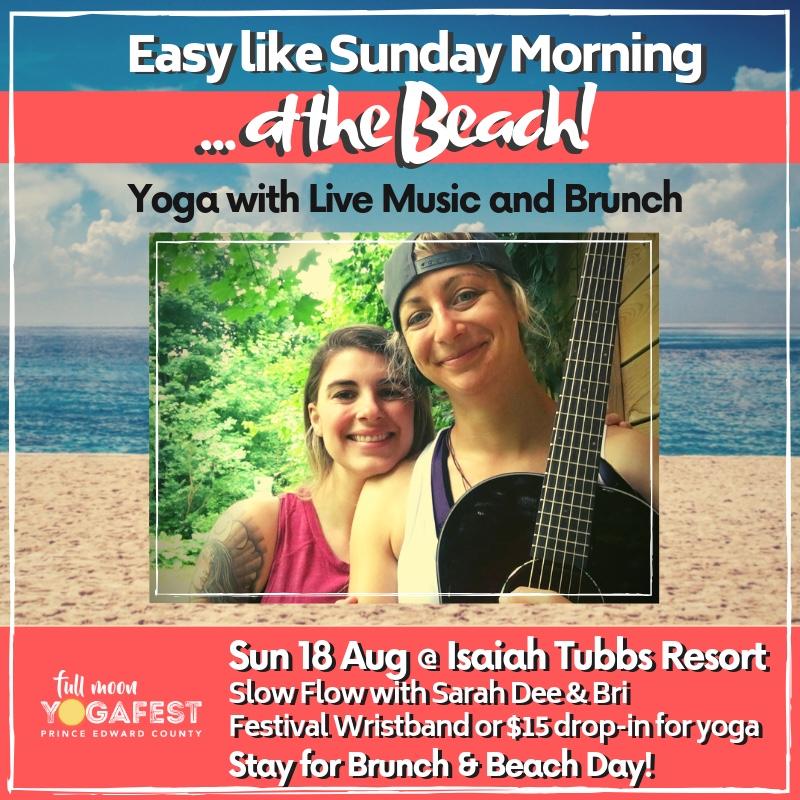 easy like Sunday morning yoga at the beach!
