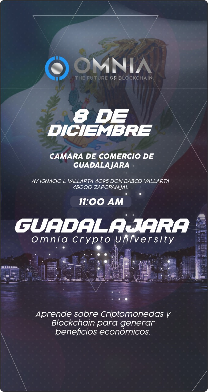 Flyer Omnia Crypto University Guadalajara