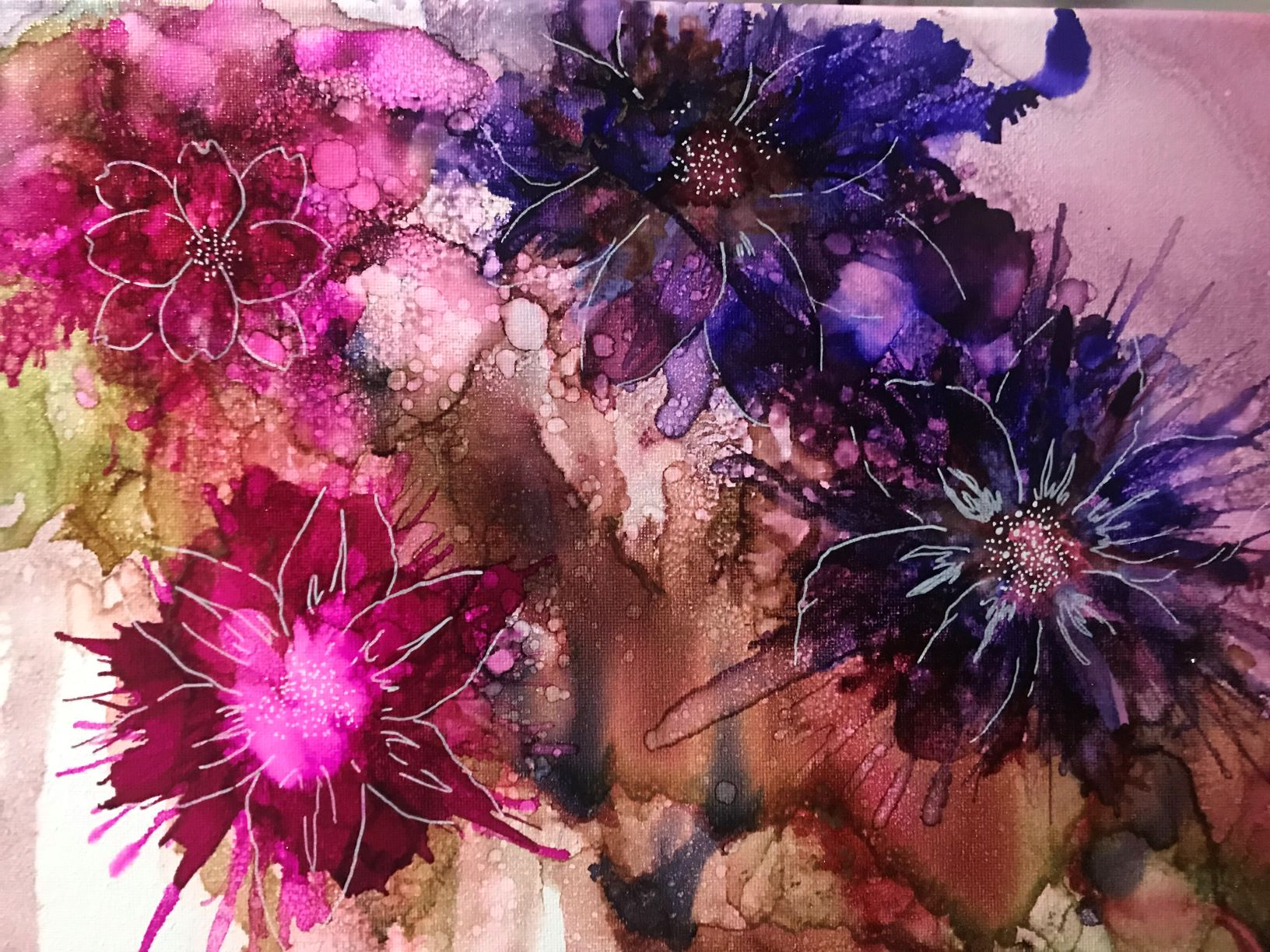 Alcohol Inks on Canvas workshop