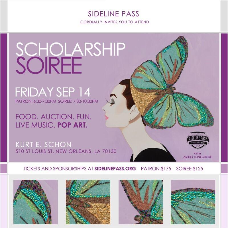 Sideline Pass Scholarship Soiree Invitation
