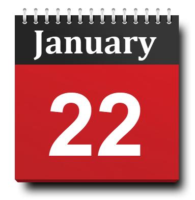January 22 Calendar Icon
