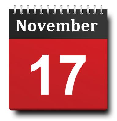 November 17 Calendar Icon