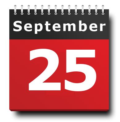 September 25 Calendar Icon