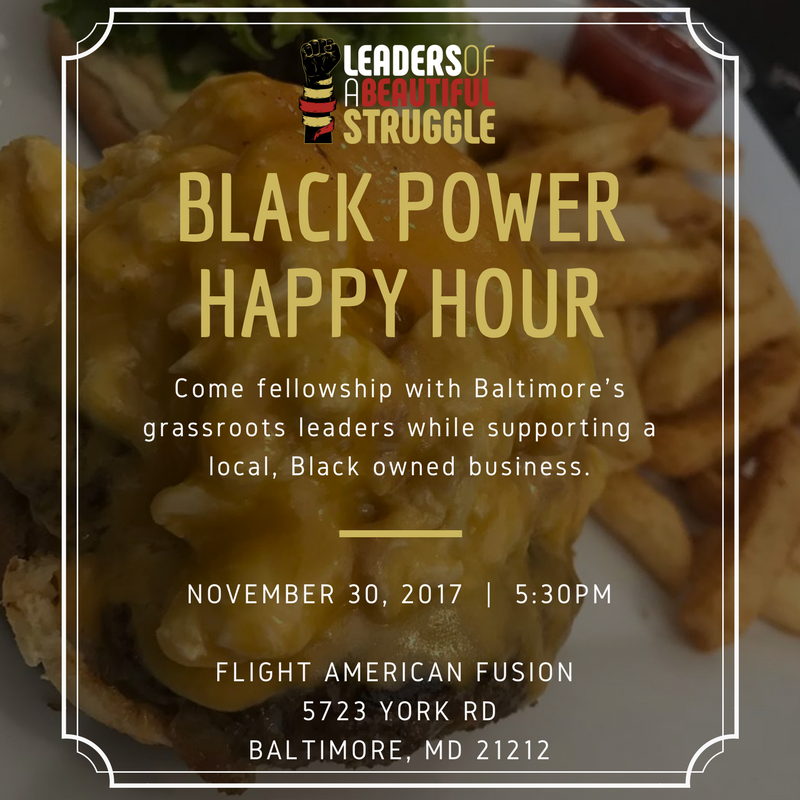 October Black Power Happy Hour Flyer