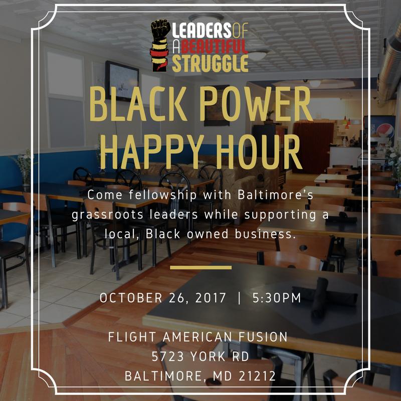 October Black Power Happy Hour Flyer