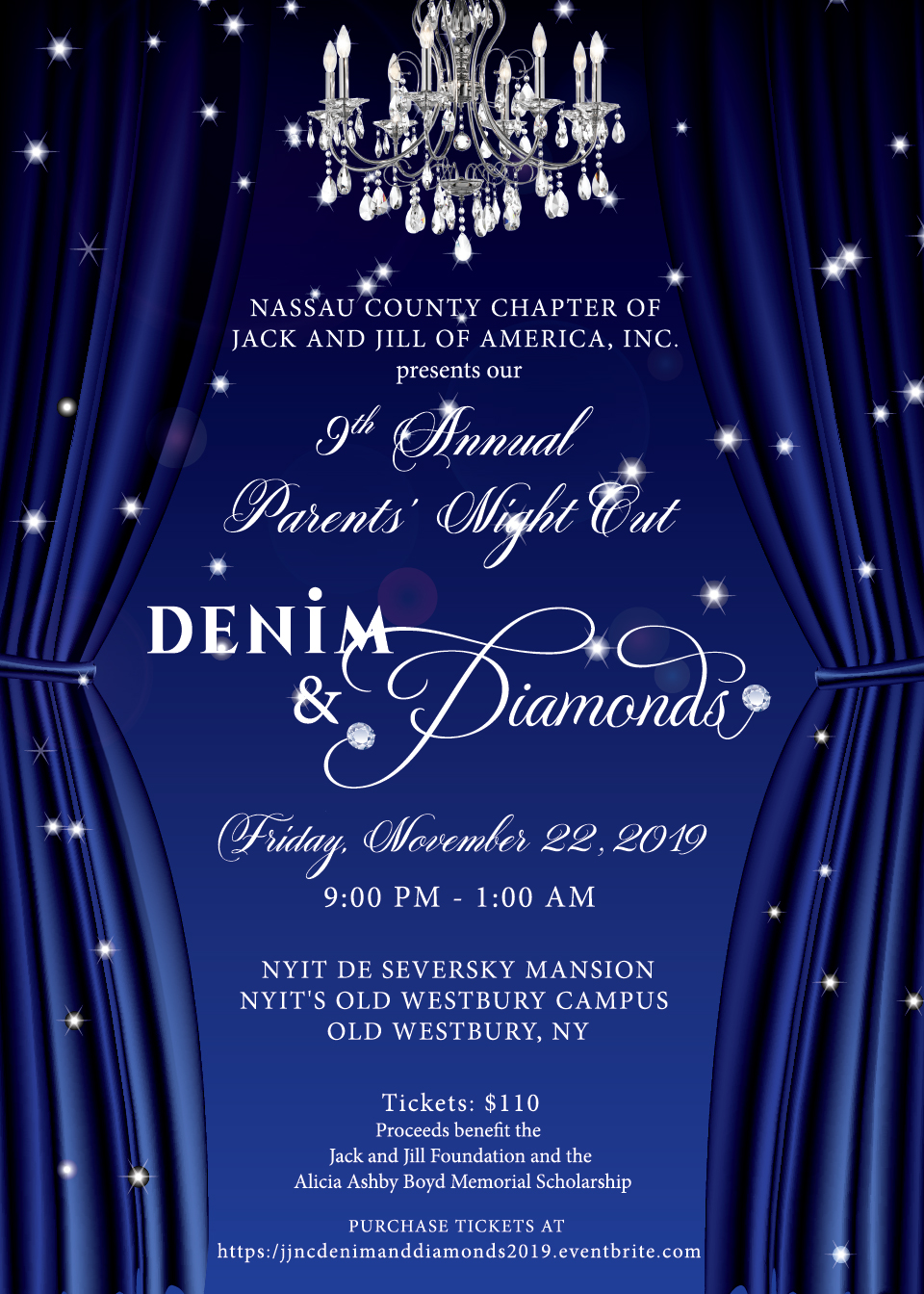 Jack and Jill Denim and Diamonds Invite