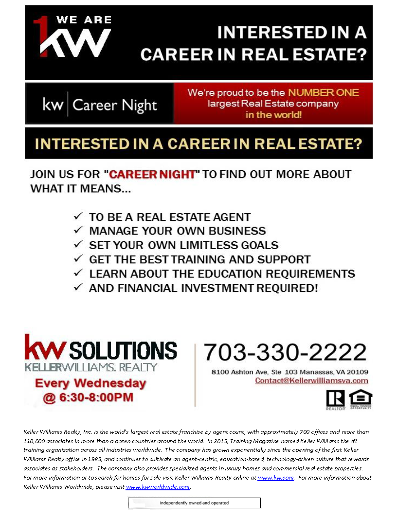 Career Night Flyer