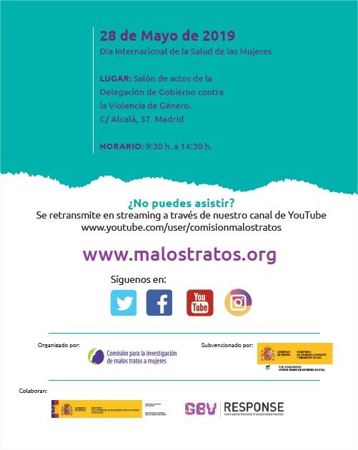 Programa Jornadas Efectos de la Violencia de Género en la Salud de las mujeres