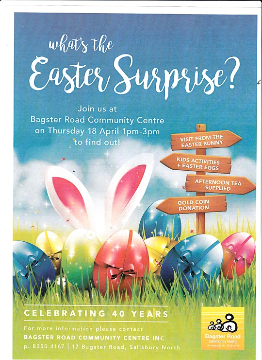 the flyer of the Easter Suprise