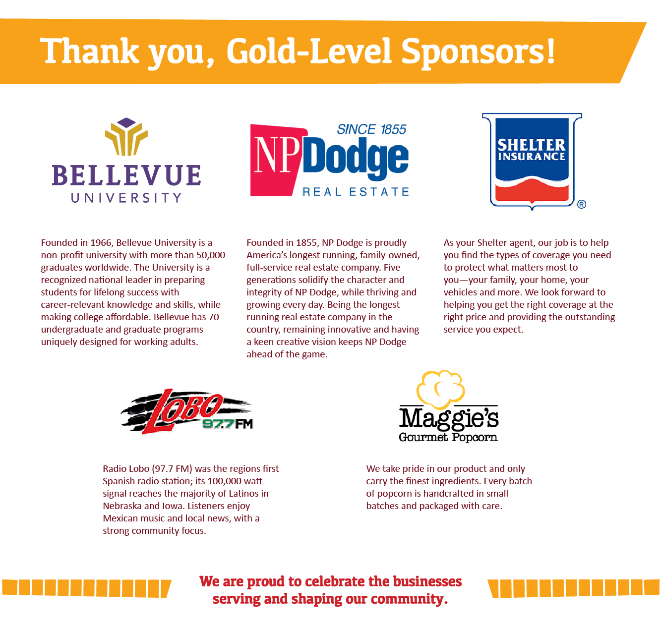 Summer Fest Gold Level Sponsors