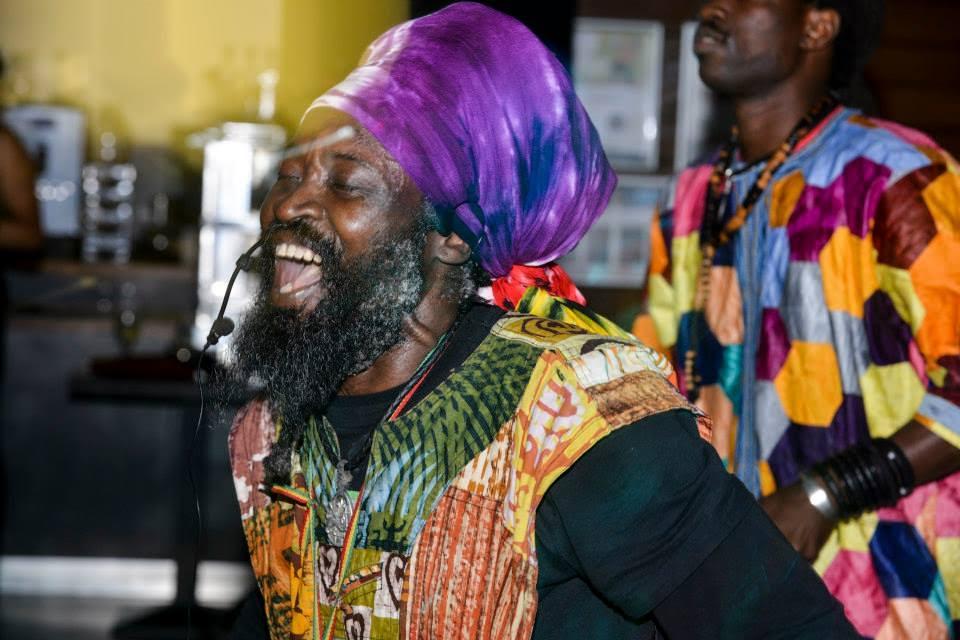 Kwame laughing