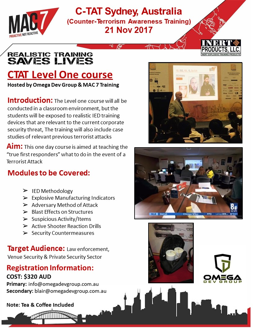 Course information for C-TAT Level 1