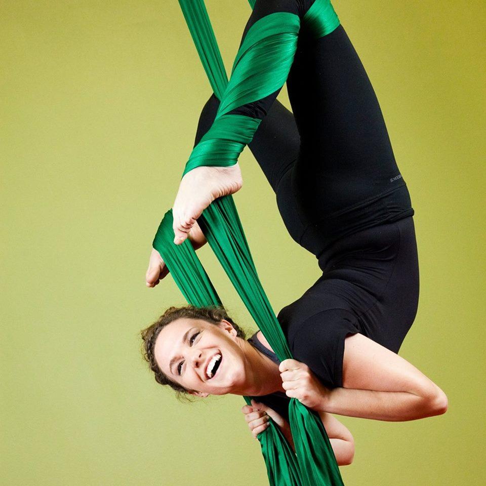Aerial Silks Class at Springs Dance