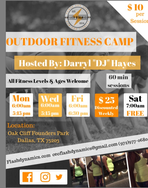 Flash Dynamics Outdoor Fitness Flyer