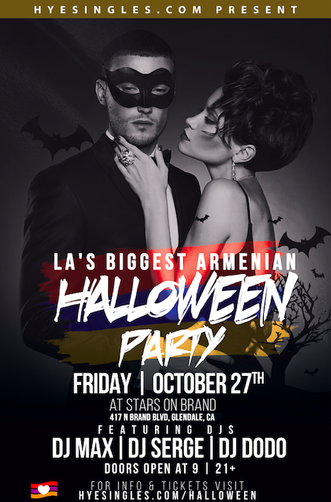 LA's Biggest Armenian Halloween Party Tickets, Fri, Oct 27, 2017 ...