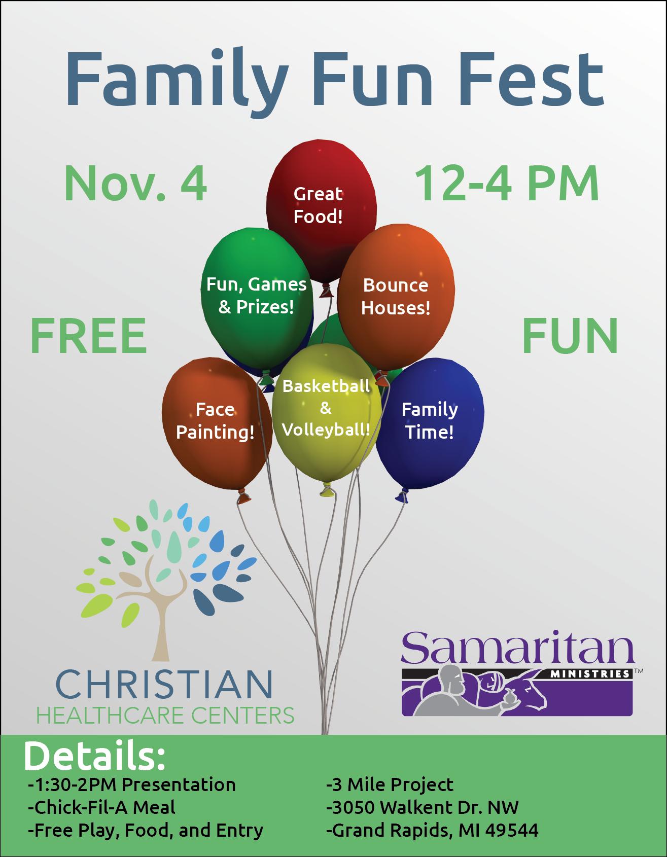 Family Fun Fest Poster - Christian Healthcare Centers