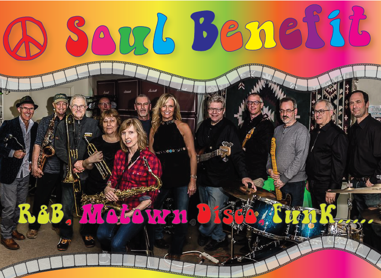 Photograph of Soul Benefit Band and Logo