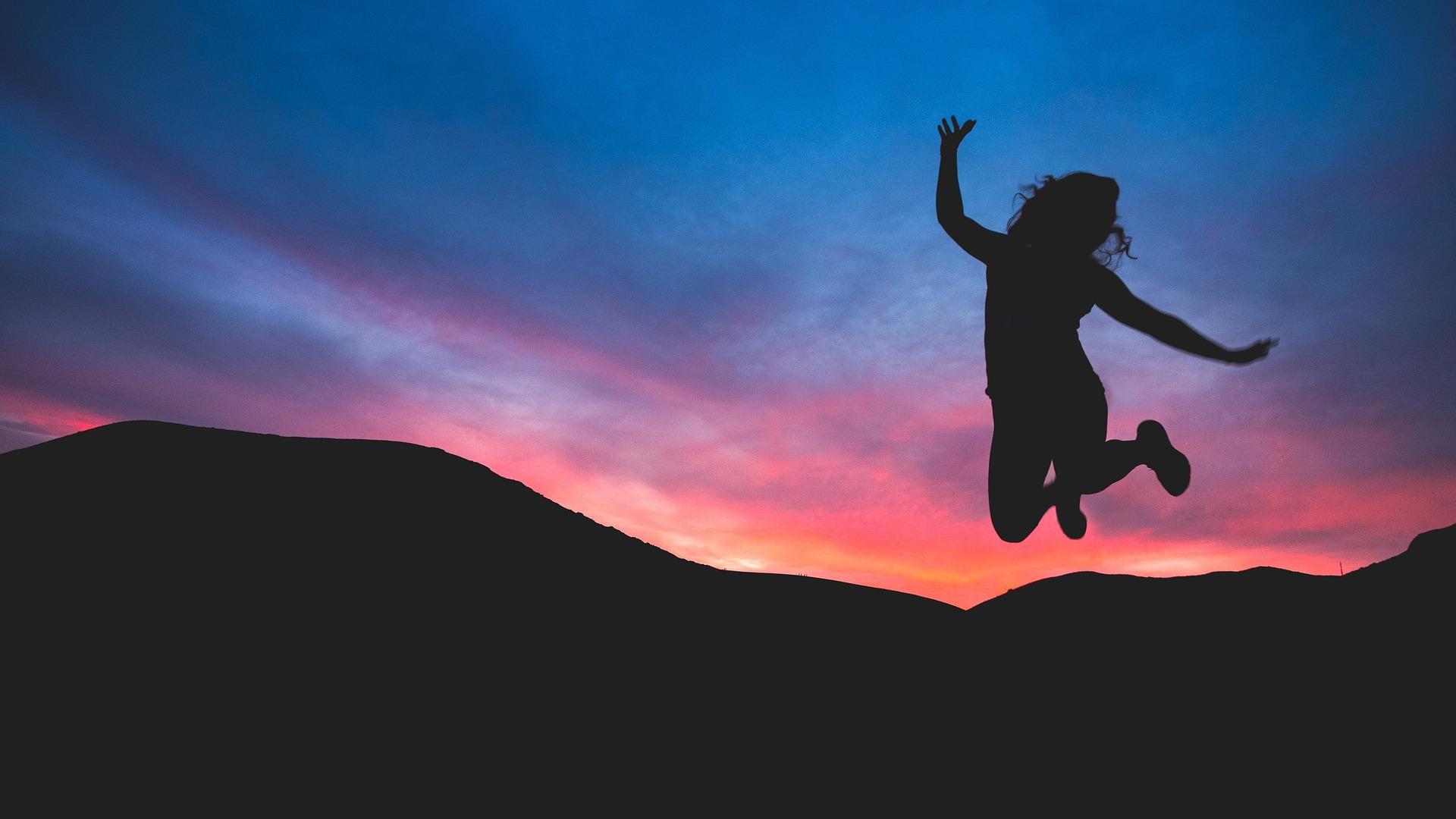 Girl jumping - meditation mini retreat